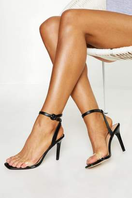 boohoo Clear Strap 2 Part Stiletto Heels