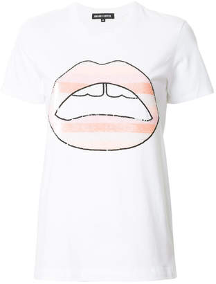 Markus Lupfer lips print T-shirt