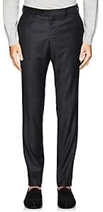 Barneys New York MEN'S TROFEO WOOL TROUSERS - GRAY SIZE 38