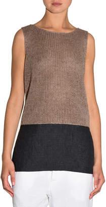 Eleventy Knit Colorblock Sleeveless Top