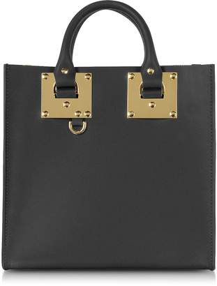 Sophie Hulme Black Albion Square Leather Tote