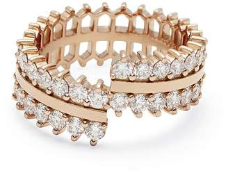 Nouvel Heritage Double Diamond Lace Ring - Rose Gold