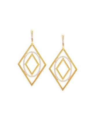 Ivanka Trump Affinity 18K Gold & Diamond Element Statement Earrings $5,460 thestylecure.com