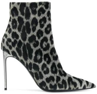 Stella McCartney leopard pattern stiletto boots