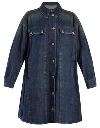 MM6 MAISON MARGIELA Oversized Denim Jacket - Womens - Mid Blue
