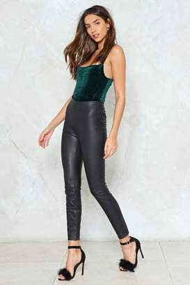 Nasty Gal So Close Vegan Leather Leggings