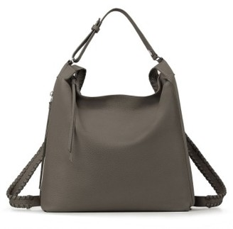Allsaints Kita Convertible Leather Backpack - Grey $398 thestylecure.com