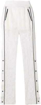David Koma high-waist lace trousers