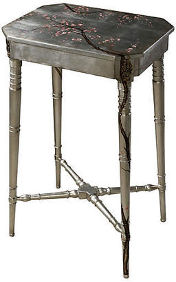 "Theodore Alexander Winter Blossom 16"" Side Table - Silver"