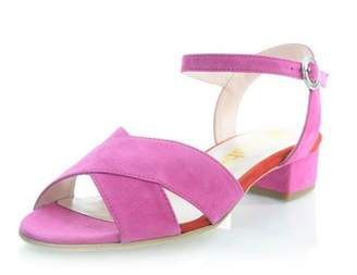 Le Babe Pink Suede Sandal