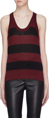 Alexander Wang 'Wash & Go' stripe Merino wool blend tank top