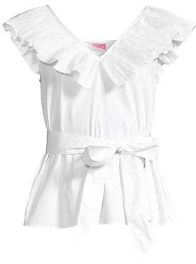 Kate Spade Women's Ruffled Tie Peplum Top