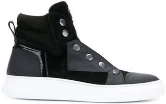 Bruno Bordese panelled hi-top sneakers