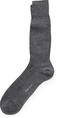 69966bcb93f ... Ralph Lauren Ribbed Merino Wool Dress Socks