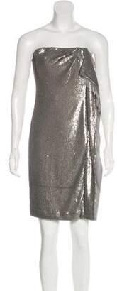 Halston Strapless Cocktail Mini Dress
