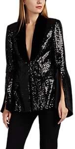 Prabal Gurung Women's Velvet-Trimmed Sequined Blazer - Black