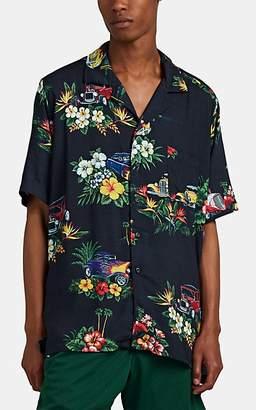 Rhude Men's Logo Hawaiian Shirt - Black