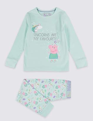 "Marks and Spencer Peppa Pigâ""¢ Pyjamas with Stretch (1-7 Years)"