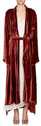 Juan Carlos Obando Women's Velvet Shawl Lapel Robe - Burnt Orange