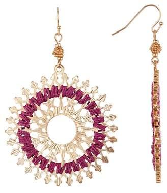 Melrose and Market Filigree & Thread Medallion Dangle Earrings