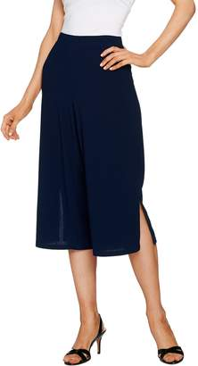 Susan Graver Textured Liquid Knit Wide Leg Capri Pants