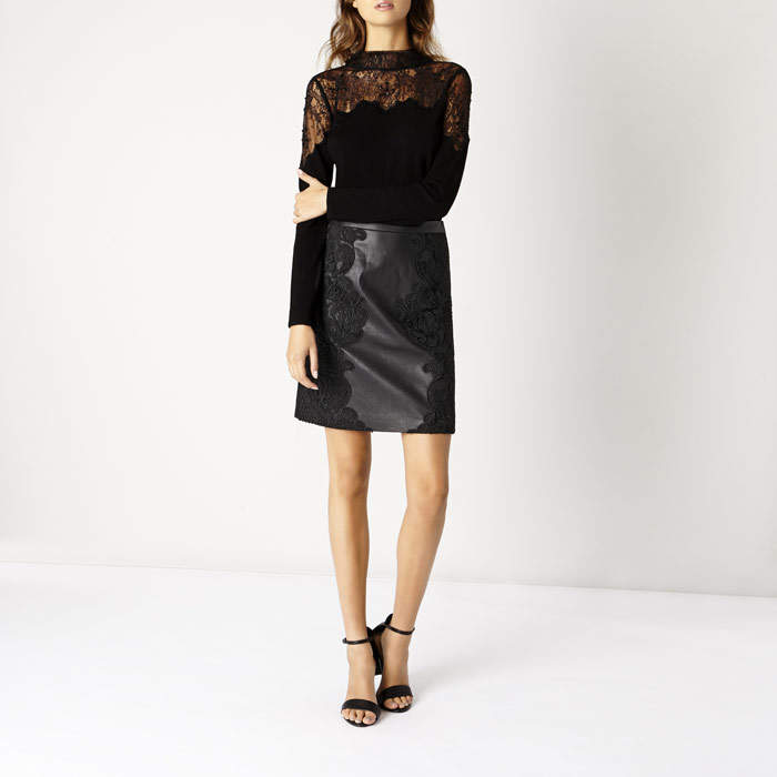 Pu Leather Skirt - ShopStyle Australia