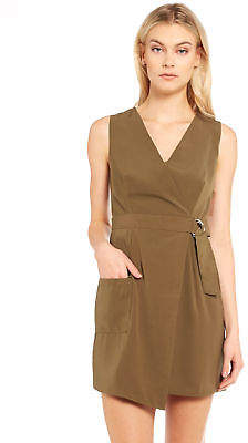 Glamorous New Womens Military Dress In Khaki Dresses Party & Cocktail
