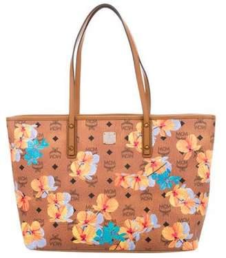 MCM Floral Visetos Essential Top Zip Shopper w/ Tags