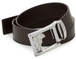 Versace Medusa Logo Buckle Leather Belt