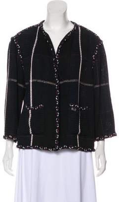 Chanel Tweed Open Front Cardigan