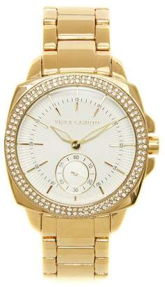 Vince Camuto Goldtone Crystal-bezel Watch