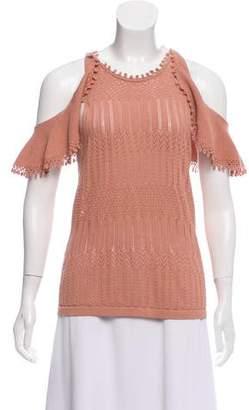 Jonathan Simkhai Crocheted Cold Shoulder Top w/ Tags
