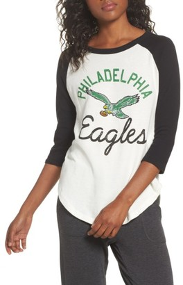 Women's Junk Food Nfl Philadelphia Eagles Raglan Tee $46 thestylecure.com