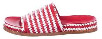 Sigerson Morrison Woven Leather Slide Sandals w/ Tags