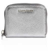 Miu Miu Miu Miu Madras Metallic Leather Coin Purse
