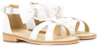 Mikihouse Miki House strappy bow sandals