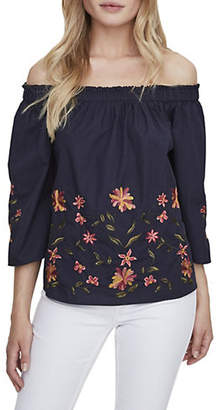 Vero Moda Kassia Floral Embroidered Off-the-Shoulder Top