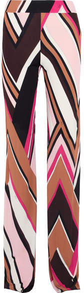 Emilio Pucci - Printed Jersey Straight-leg Pants - Pink