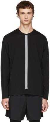 BLACKBARRETT by NEIL BARRETT Black Long Sleeve Reflective Stripes T-Shirt