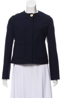 Tory Burch Wool-Blend Collarless Jacket