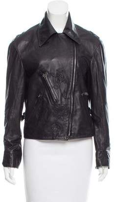 Paul Smith Appliqué Leather Jacket