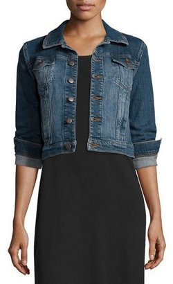 Eileen Fisher Denim Cropped Jacket, Petite $218 thestylecure.com