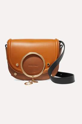 See by Chloe Mara Two-tone Leather Shoulder Bag - Tan