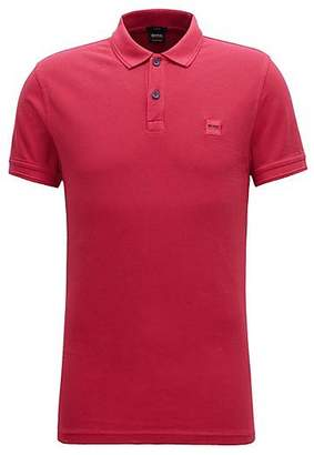 HUGO BOSS Slim-fit polo shirt in washed cotton piqué