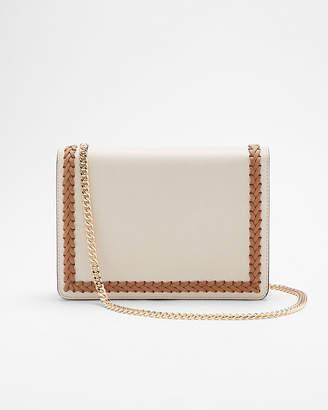 Express Whipstitch Chain Strap Crossbody Bag