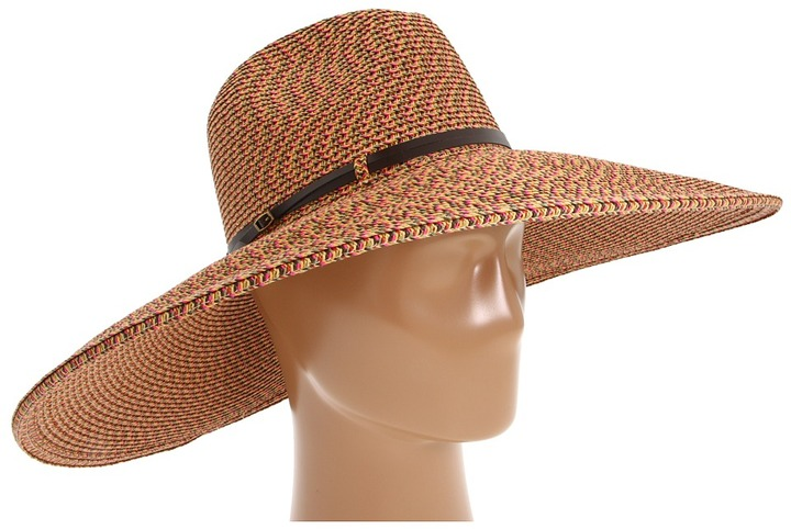 San Diego Hat Company - PBF4212 Straw Large Brim Fedora Sun Hat (Bright Mix) - Hats