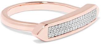Monica Vinader Baja Skinny Rose Gold Vermeil Diamond Ring