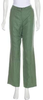 Akris Mid-Rise Silk-Blend Pants