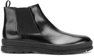 Prada chunky sole slip-on boots