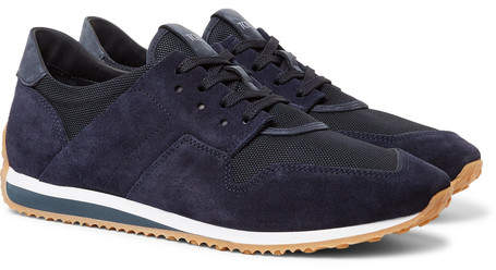 Tod's Nubuck-Trimmed Suede And Mesh Sneakers